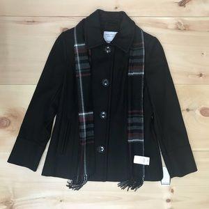 Nautica Women's wool blend pea coat black